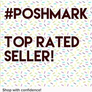 Now a Poshmark Top Rated Seller!! 🥂🎉